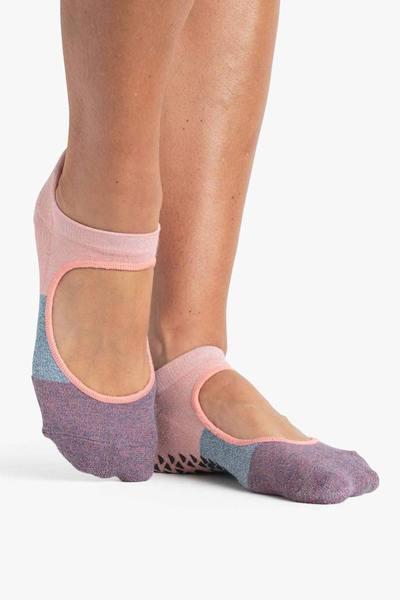 Pointe Studio Coral Teal Tessa Grip Strap Socks
