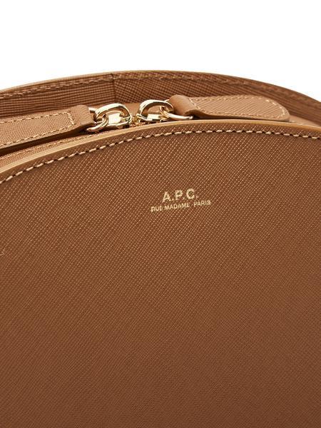 A.P.C. Saffiano Tan Demi Lune Bag