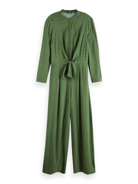 Scotch & Soda Drapey Printed With Knot Jumpsuit