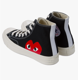 Comme Des Garcons Play High Black Converse Chuck Taylor All Star '70 Sneakers