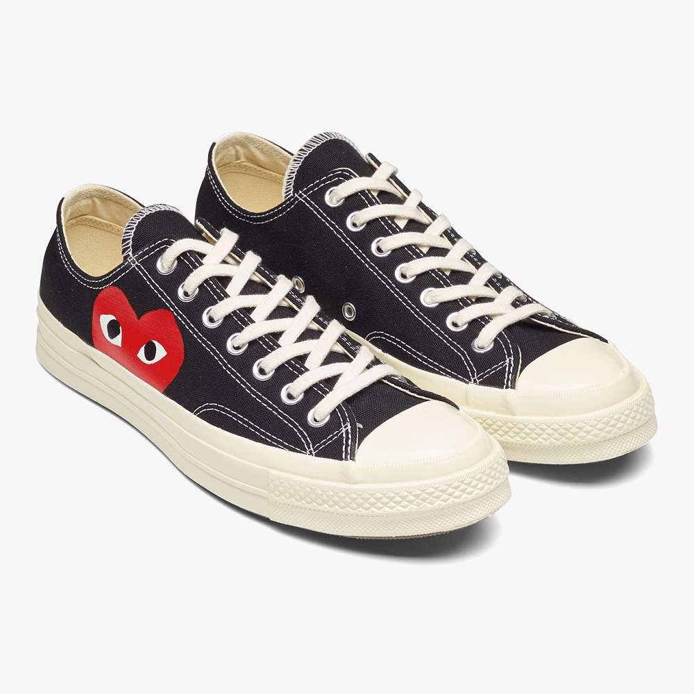 Comme Des Garcons Play Black Chuck Taylor All Star '70 Low Converse Sneakers