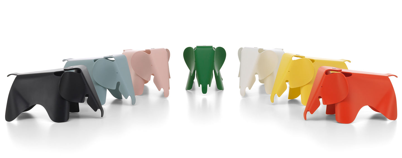 Vitra Small Deep Black Eames Elephant Toy