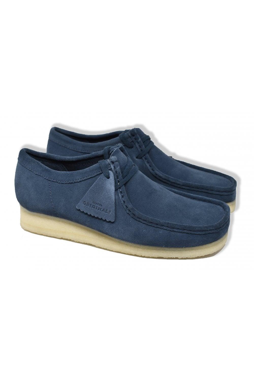 Trouva: Deep Blue Wallabee Suede Shoes