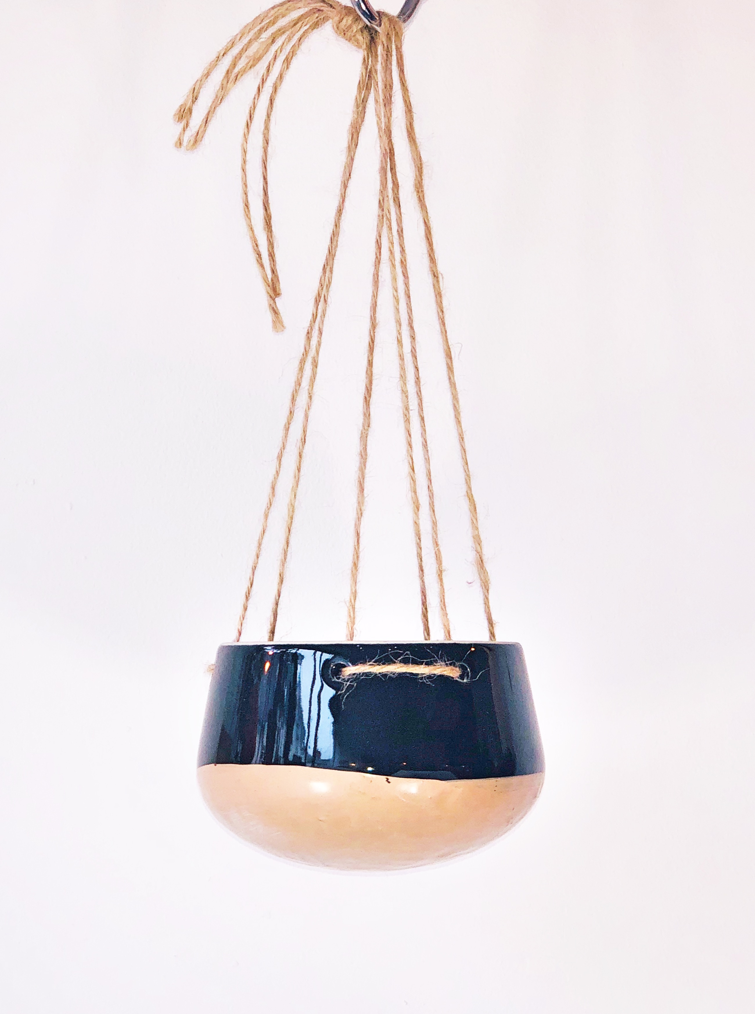 Copper and Black Hanging Pot by Madam Stoltz NEW