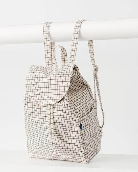Natural Grid Drawstring Backpack Natural Grid Drawstring Backpack by Baggu
