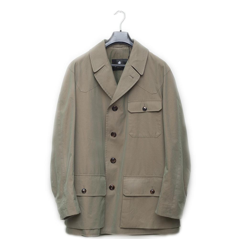 bfe6a7a8120a1 Trouva: Sage Cotton Gabardine Shooter Jacket