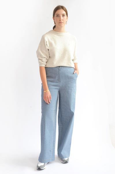Language In 45 And 47 Stella Street: Trouva: Tippi Pant In Blue And White Stripes