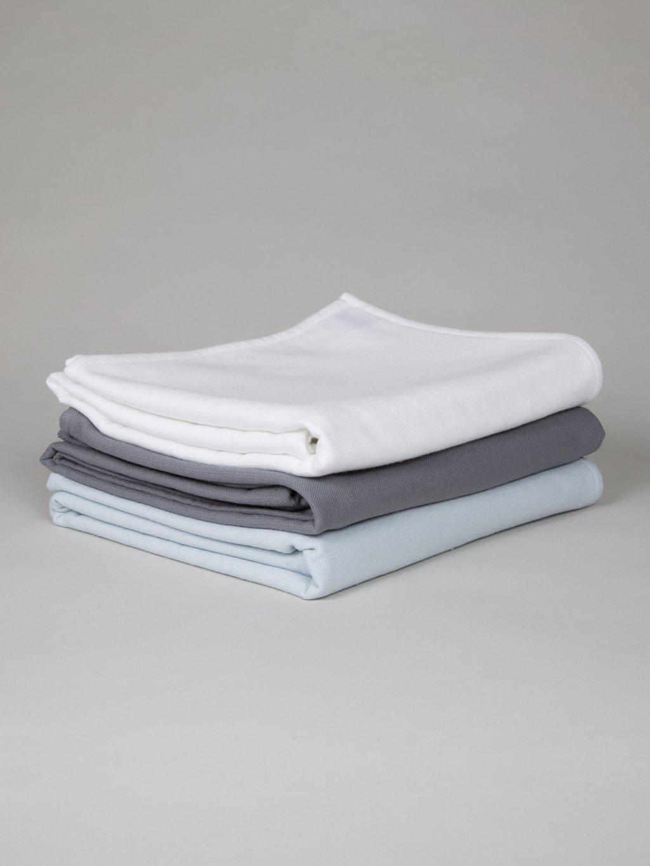 Unikko Jacquard Serviette Blanc crème//bleu Marimekko
