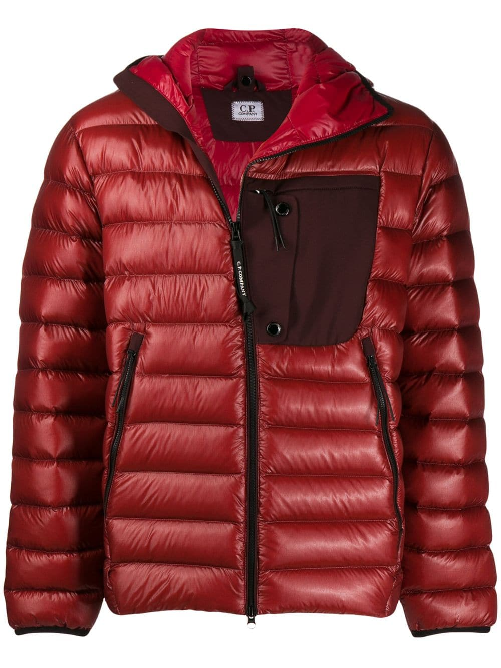 hood PCompany down Red jacket with C WI92DEH