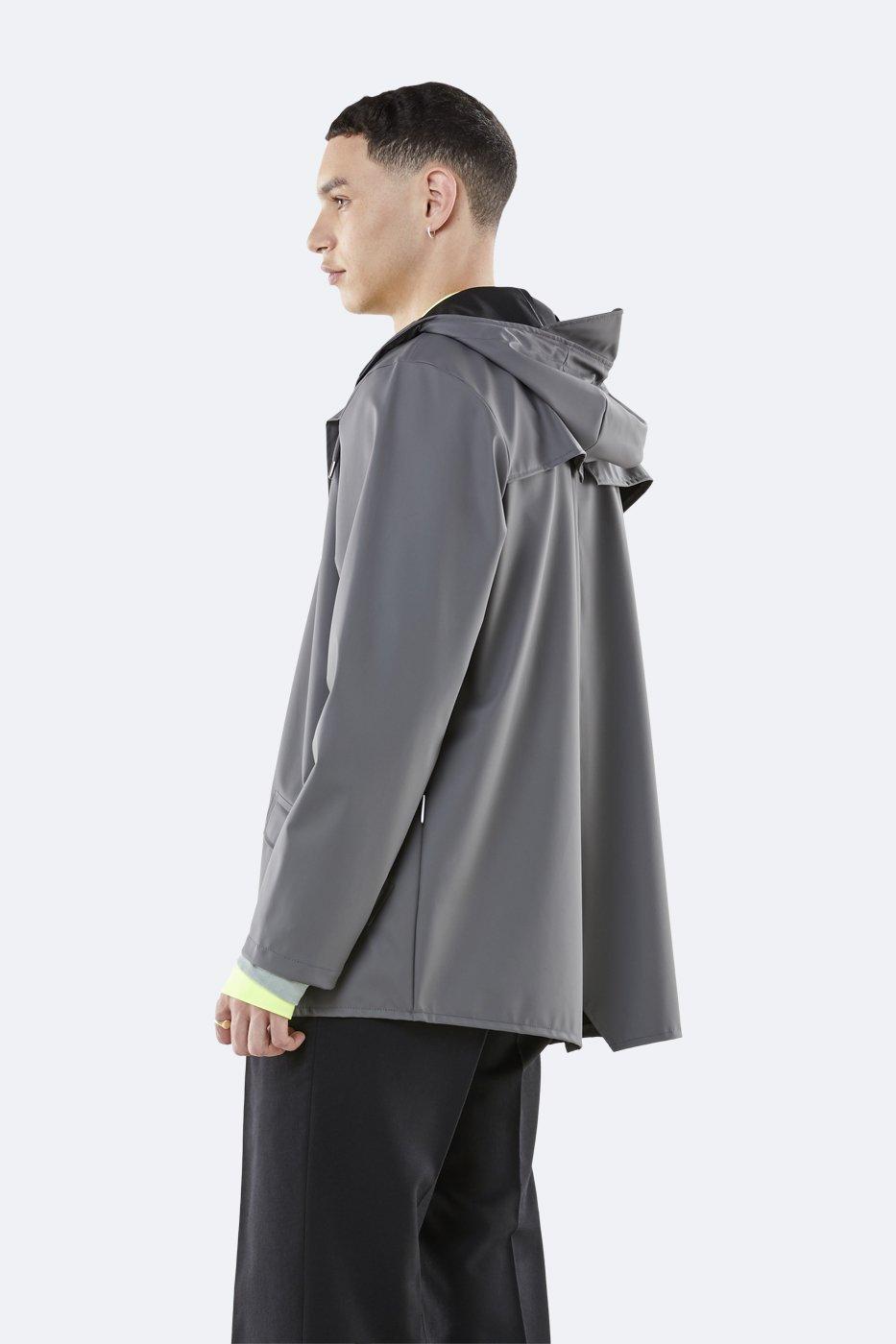 Giacca Impermeabile Pioggia Unisex Stile 1201 Nero