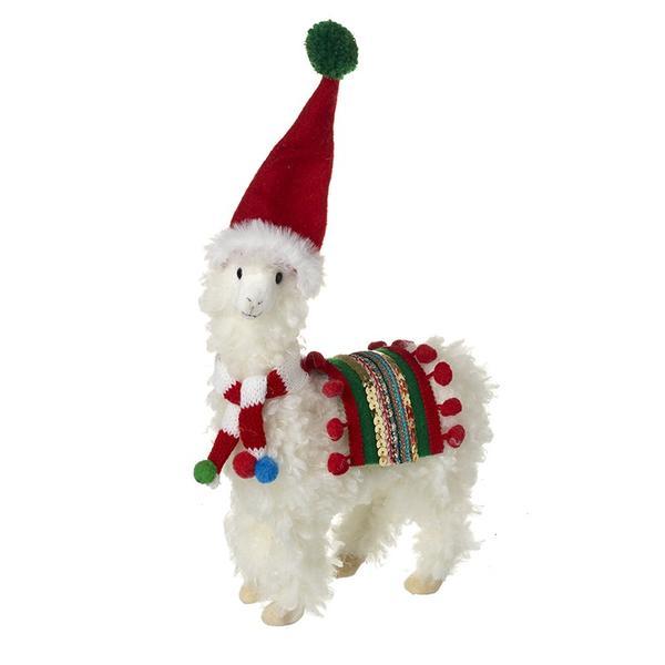 Sass and Belle Fieltro Trineo Perro Árbol De Navidad Decoración-trineo de madera