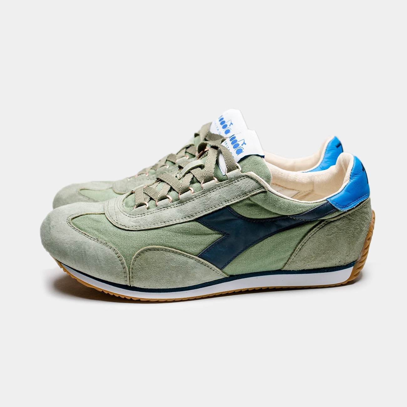 Green Equipe H Canvas Stone Wash Shoes