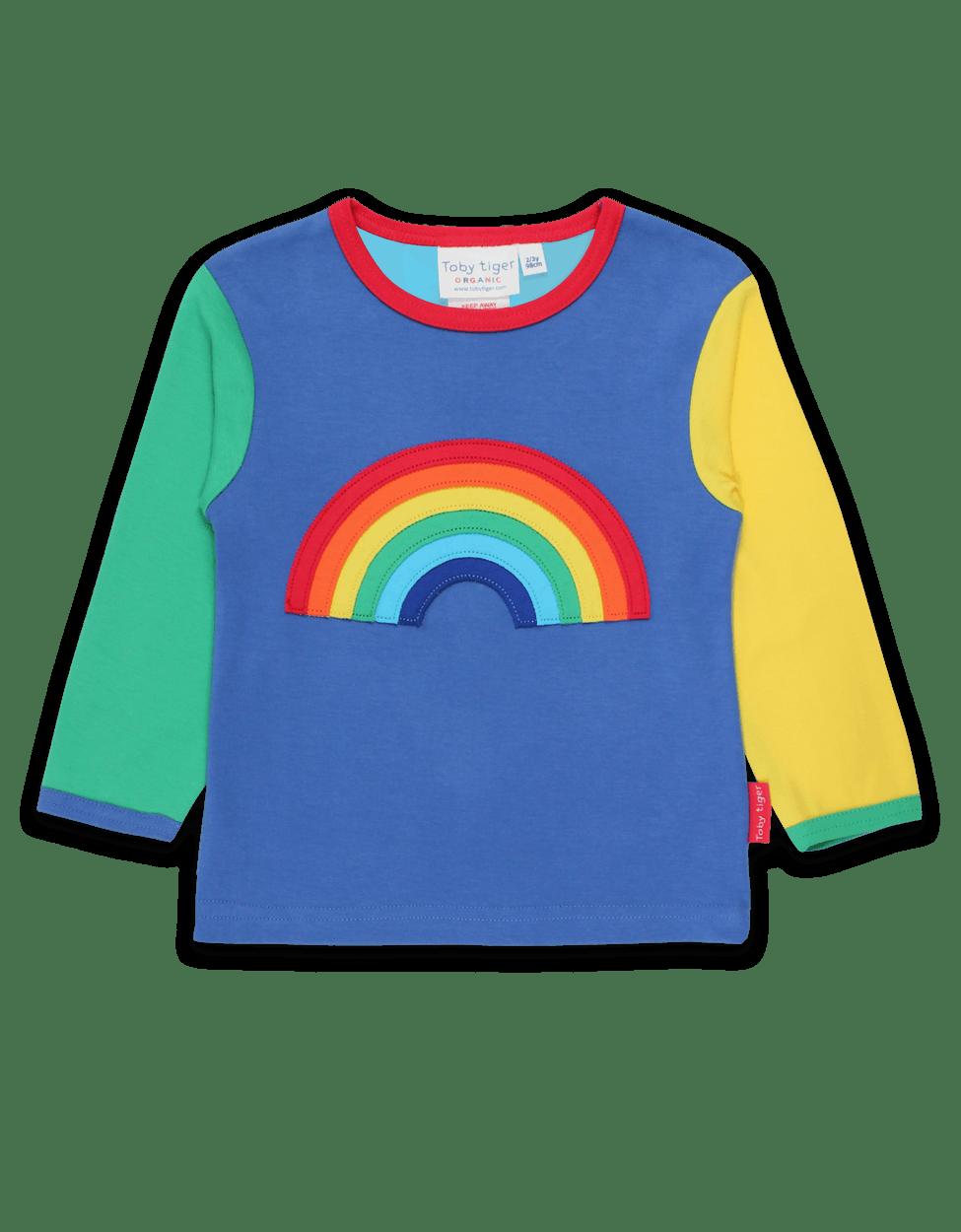 Toby Tiger SS20 Grey Rainbow Applique Top