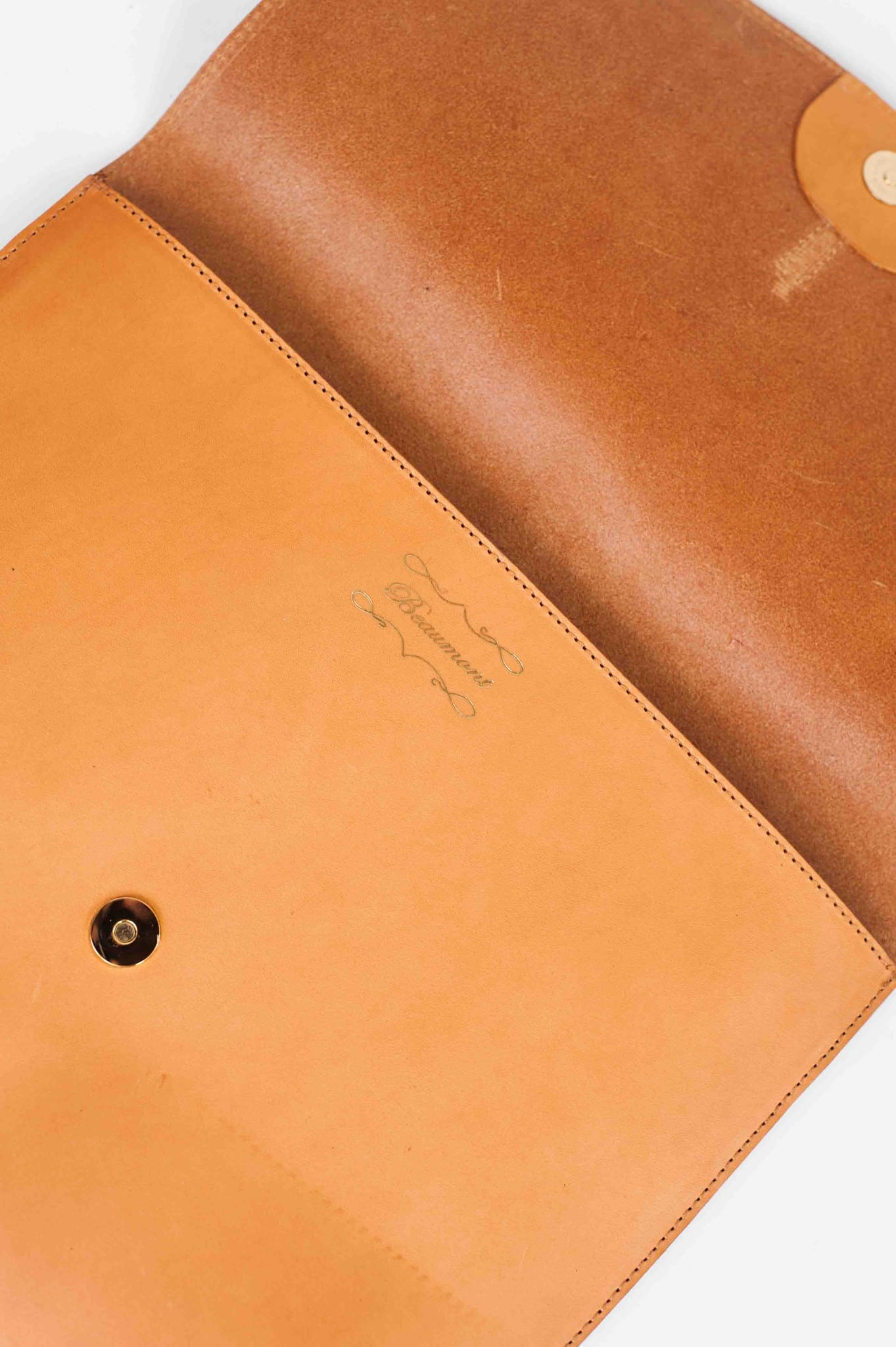 Beaumont Organic Light Tan Leather Florence Clutch