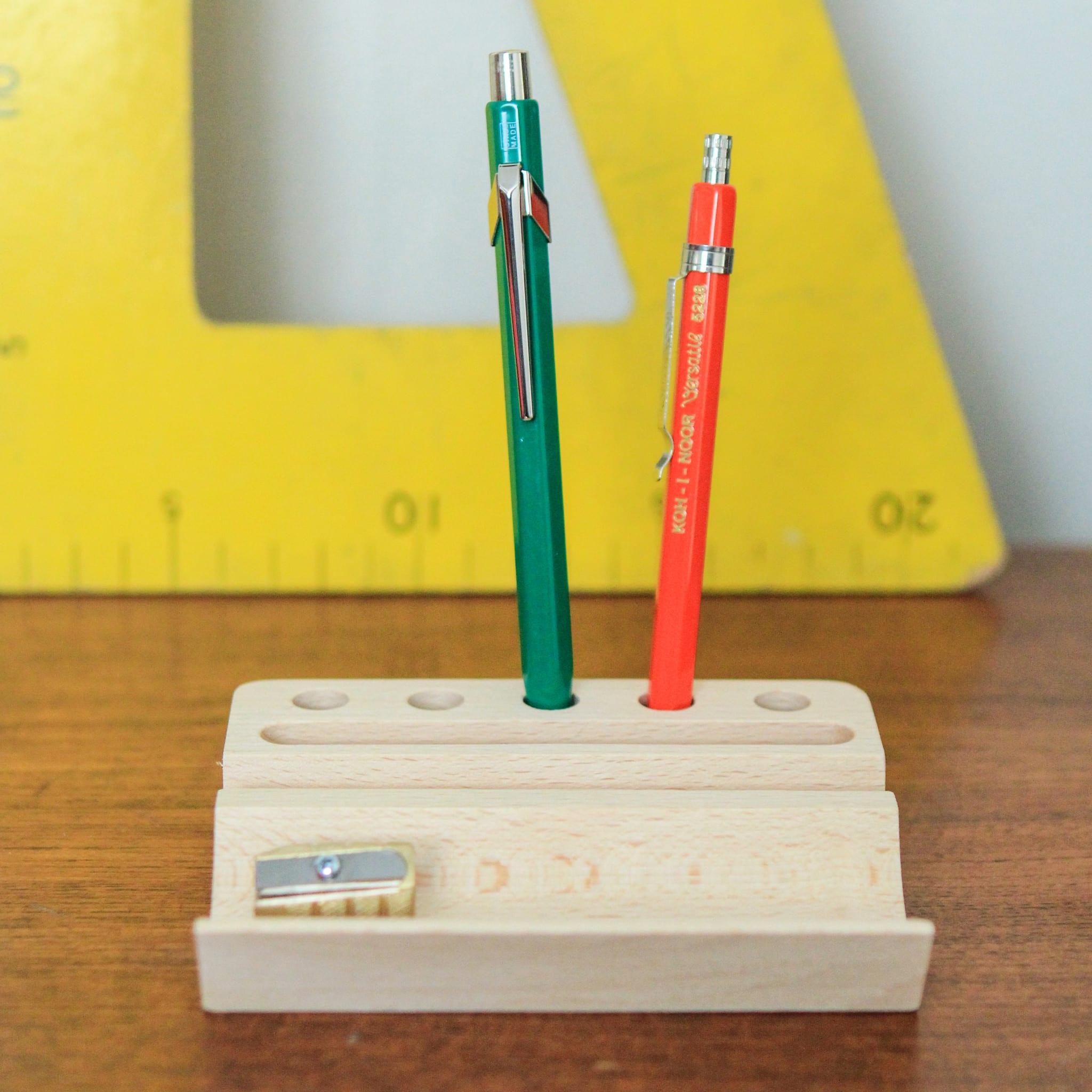 Berylune Wooden Desk Tidy Pen Holder