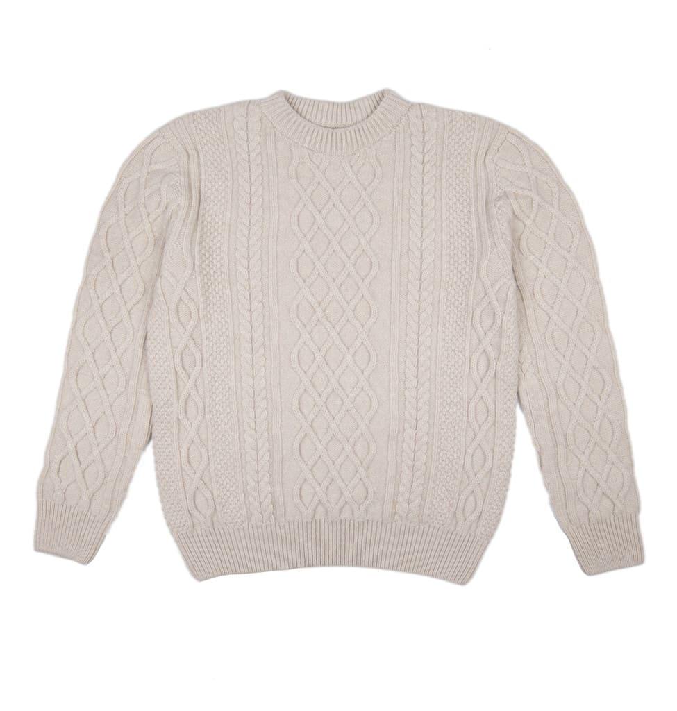 0ecf14c1b4b2d4 Trouva: Cable Knit Super Soft Lambswool Ecru Jumper