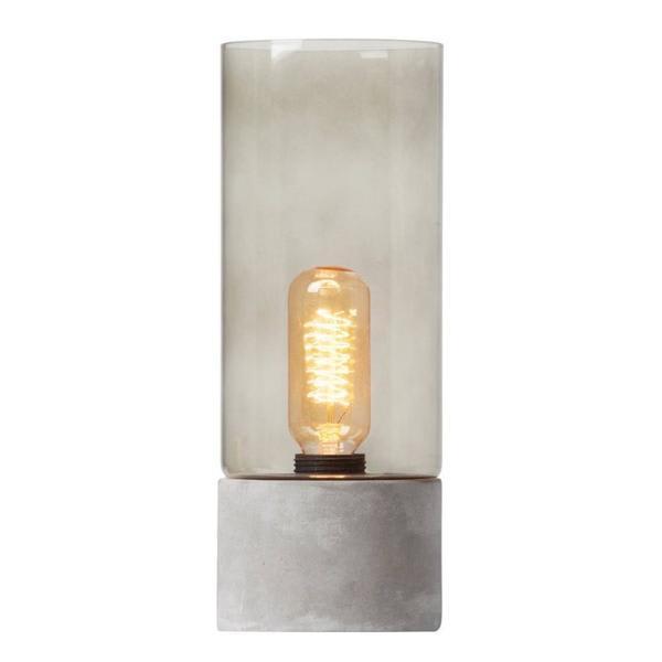 Watt & Veke Concrete And Glass Albin Lantern Lamp
