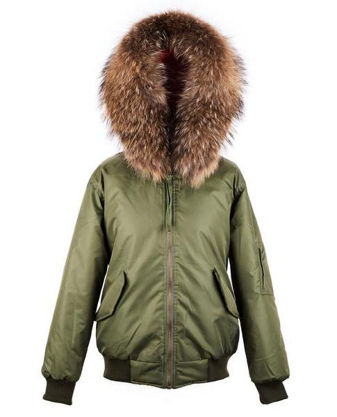 d173c672fdea Trouva: Green Waterproof Fur Bomber Jacket