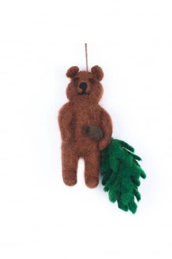Felt So Good Bear Decoration With Christmas Tree