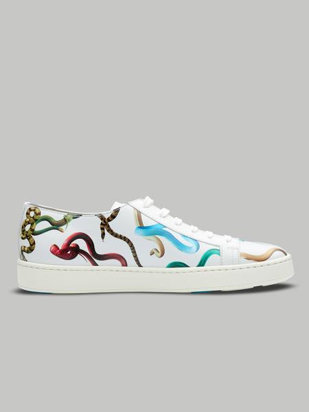 Santoni White Limited Edition Sneaker