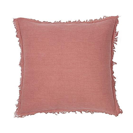 Broste Copenhagen Coral Fringed Cushion