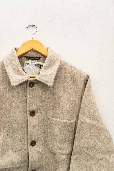 Le Laboureur Grey Brown Ecru French Work Wear Wool Jacket