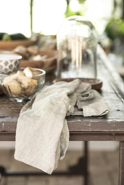 home Taupe Tea Towel