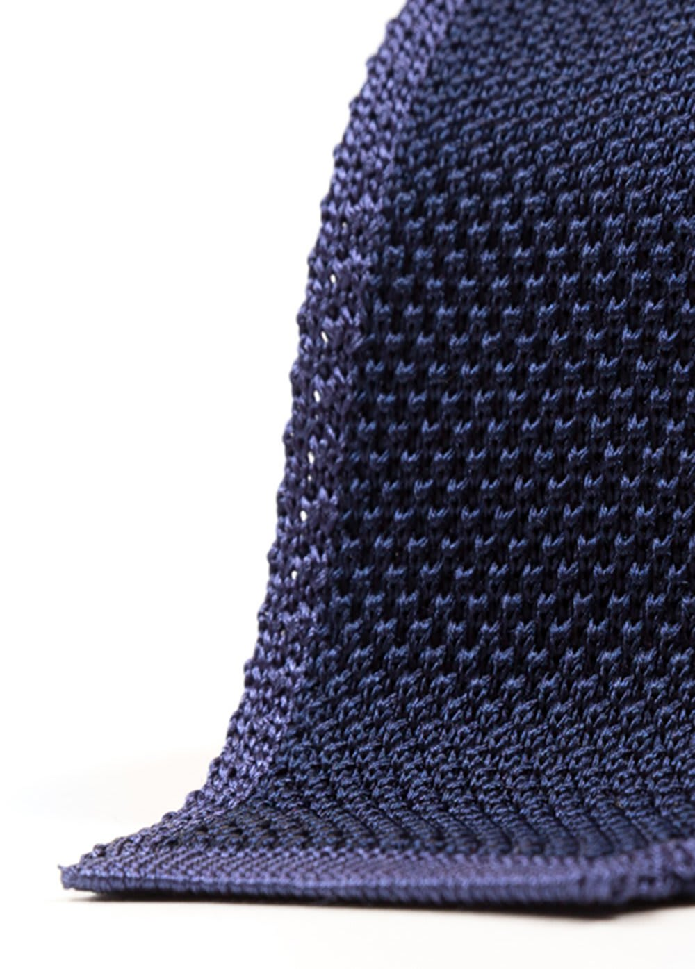 Navy Blue Double Face Knitted Silk Tie