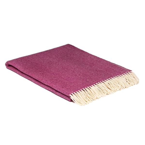 McNutt of Donegal Beetroot Herringbone Supersoft Throw