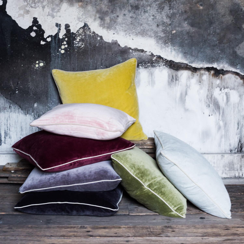 Also Home Citrine Unari Velvet Cushion