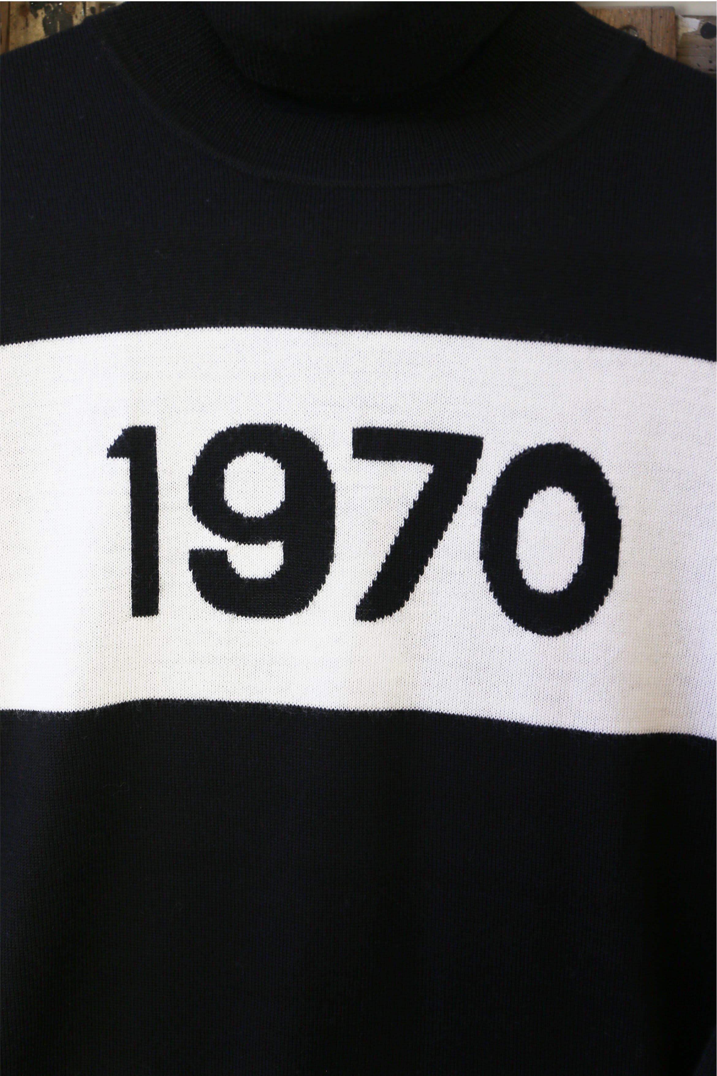 Bella Freud  1970 Black Ivory Polo Jumper