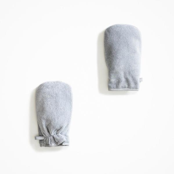 Mori White & Grey Towel Mitt