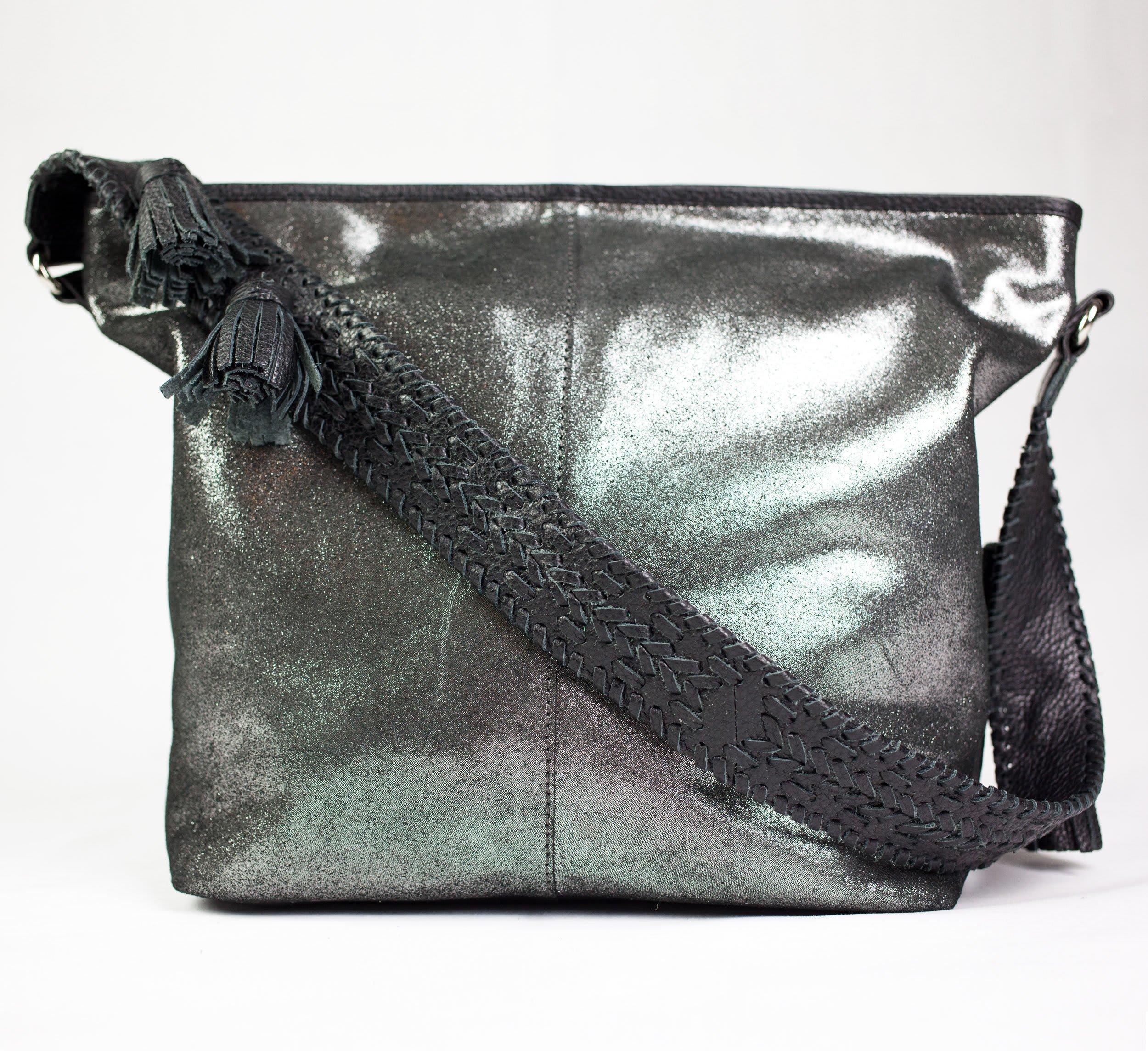 543272967 Nooki Design Gunmetal Suede Marlene Shoulder Bag