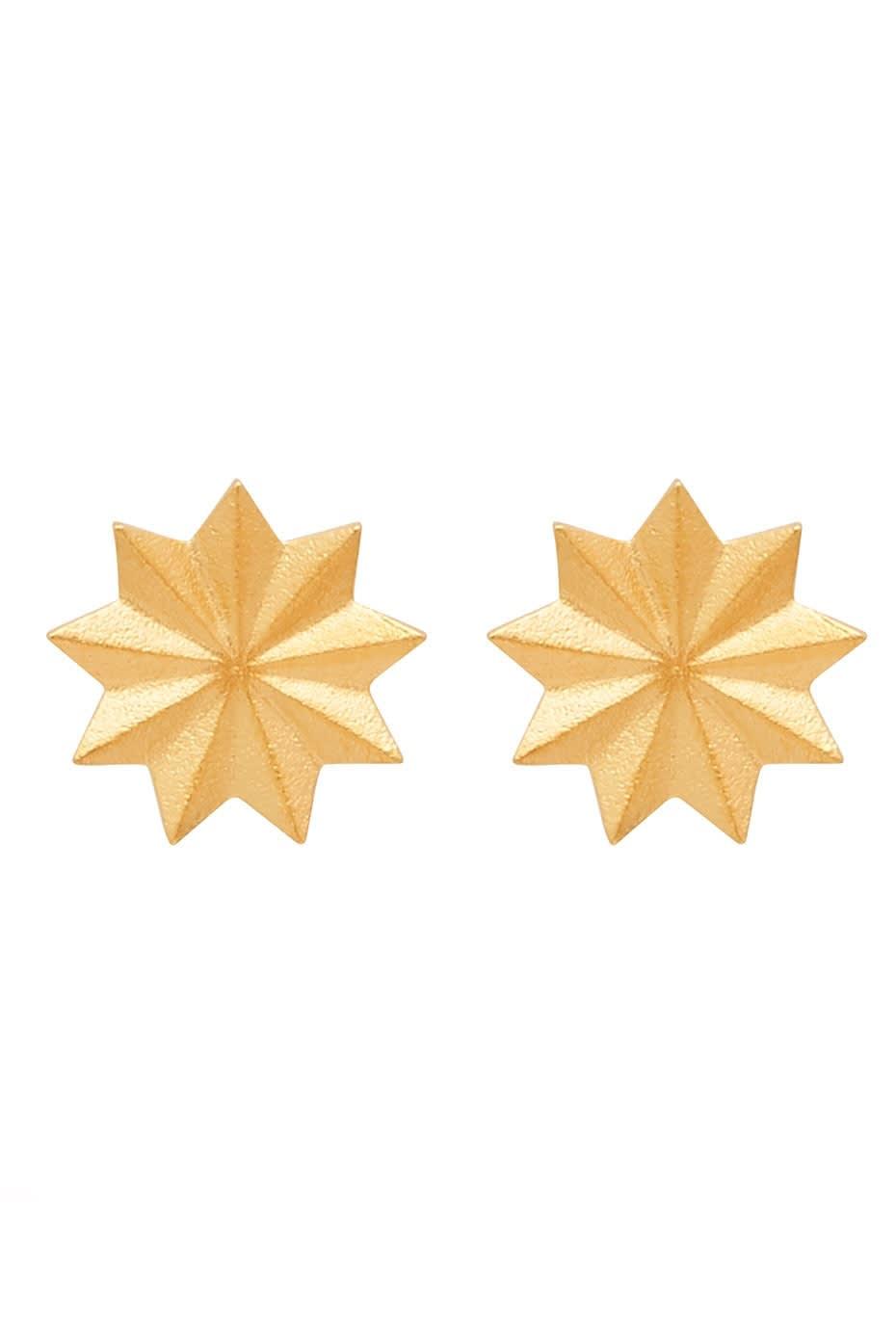 Louise Kragh Gold Bloom Earrings