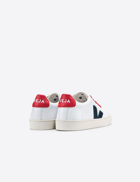 Veja Junior Extra White Esplar Small Lace Leather Shoe
