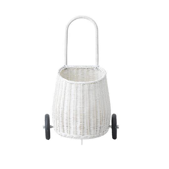 Olli Ella White Luggy Basket