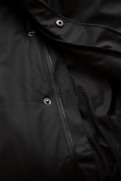 Rains Black Padded Coat