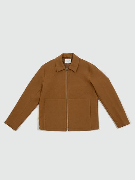 Still By Hand Camel Loop Yarn Zip Up Blouson Jacket