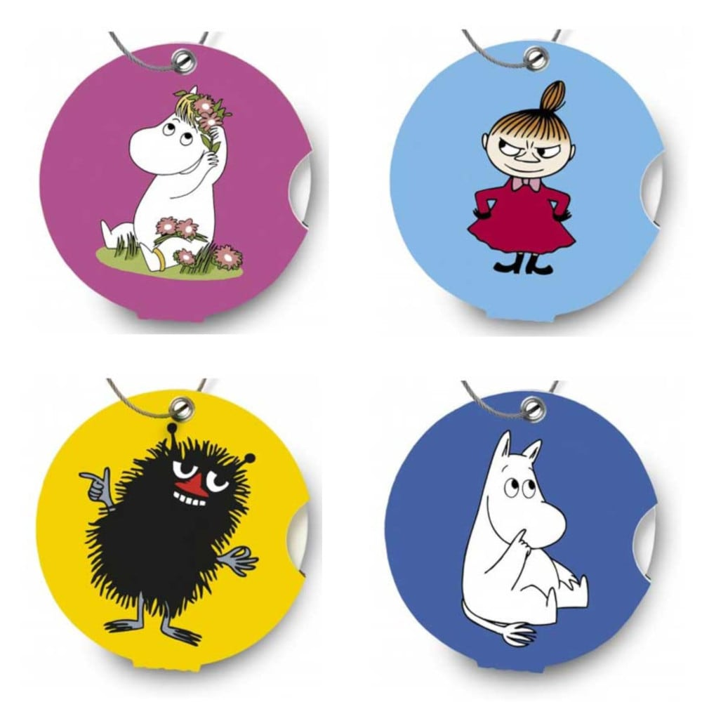 Addatag Luggage Tags Set Of 4 Moomin Characters