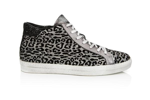 24b074c3b844 Trouva: Alto Pewter Leopard High Tops Trainer