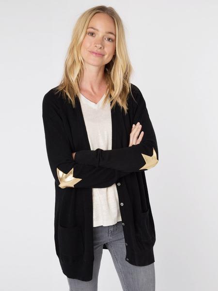 Wyse Black Gold London Juliet Star Cardigan