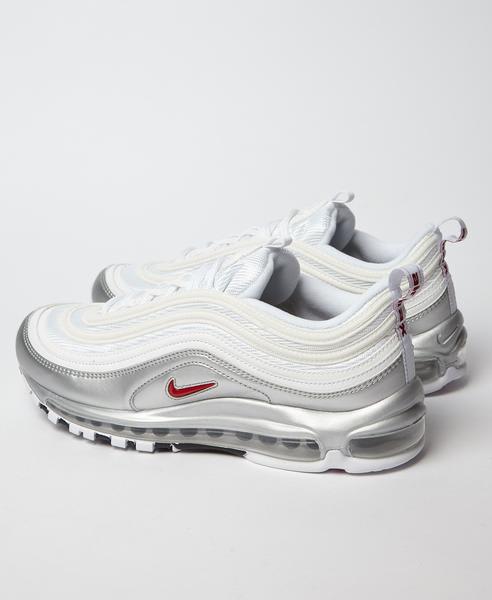 Nike White Silver Air Max 97 B Sides Qs Trainers