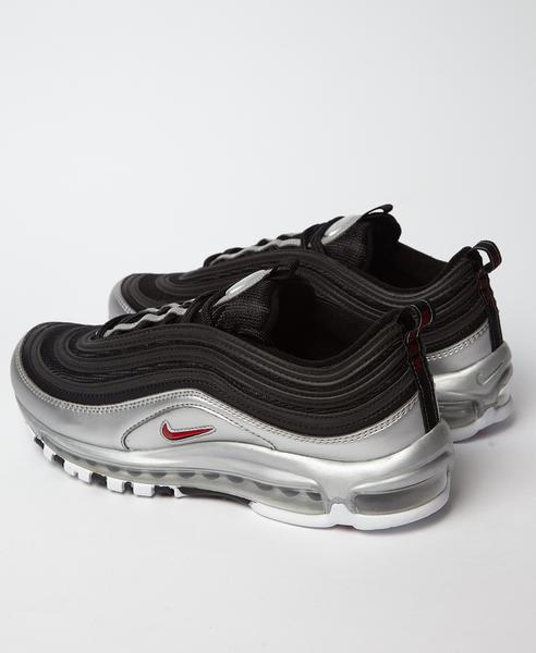 Nike Black Silver Air Max 97 B Sides Qs Trainers