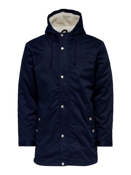 Only & Sons Black Alex Teddy Parka Coat