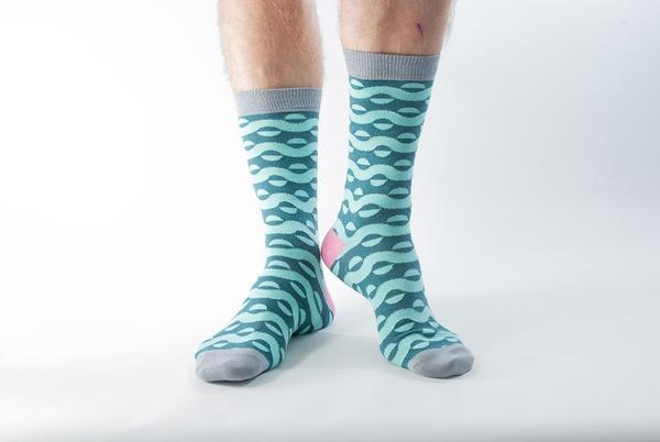 Doris & Dude Teal Wave Socks