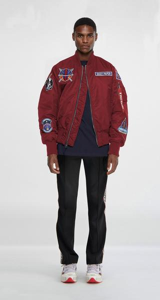 Daily Paper X Alpha Industries Ma 1 Model Mars Mission Alpha Red Bomber