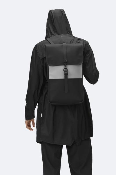 Rains Black Stone Backpack