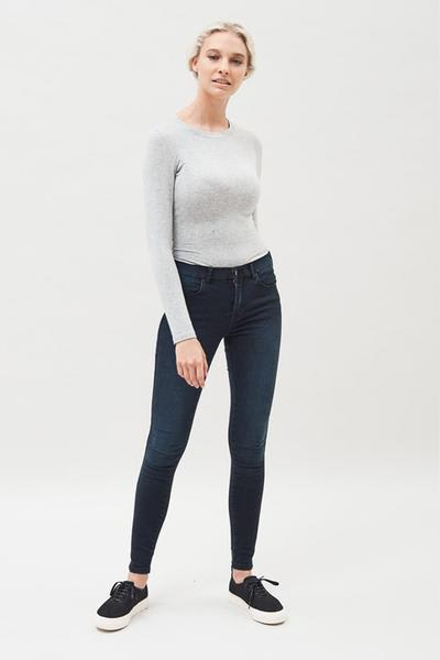 Dr Denim  Pitch Dark Blue Lexy Jeans