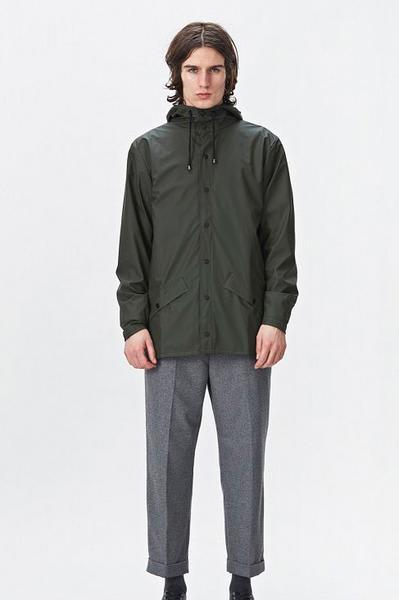 Rains Green Jacket