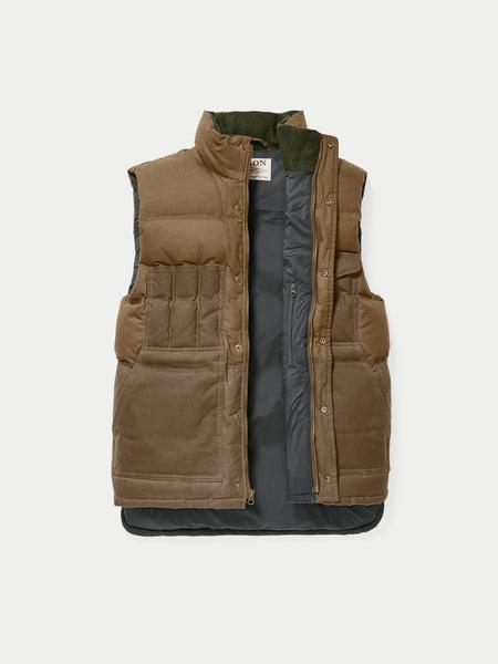 Filson  Dark Tan Down Cruiser Vest